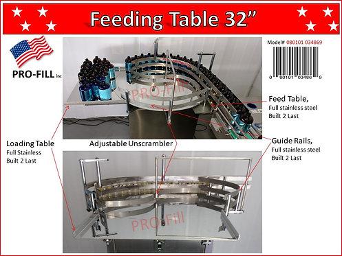 "Feeding Table 32"" #080101034869"