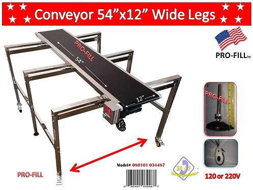 """Conveyor  54""""x 12"""" Wide Leg #34487"""