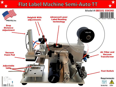 Flat Label Machine Semi-Auto T.T. #080101034340