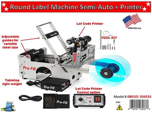 Semi-Auto Round Label Machine Rental