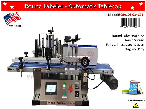 Round Labeler - Automatic Table Top #080101034661