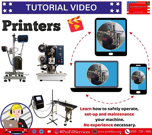 Tutorial Video (Printers)