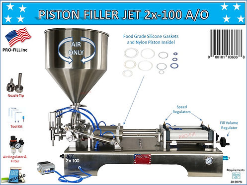 JET Models Double Head (AIR ONLY/ PNEUMATIC)  Piston Filler/ Filling Machine
