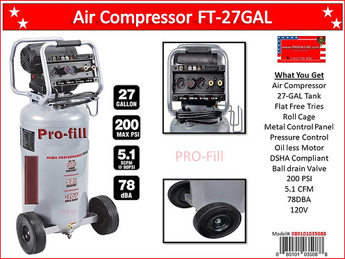 Air Compressors / Low Noise FT-27Gal #35088