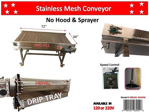 Conveyor / Food Grade Stainless Steel Mesh 72x24