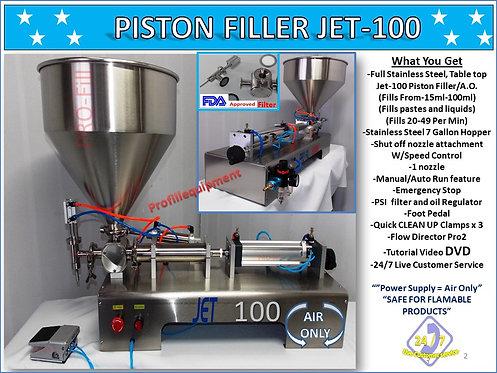 JET Models (AIR ONLY/PNEUMATIC) Single Head Piston Filler/ Filling Machine
