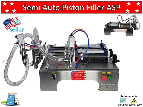 ASP Models Double Head Filling Machines (Air & Electric & Air Only)