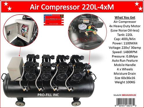 Air Compressors / Low Noise 220L-4xM #35132