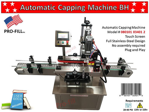 Automatic Capping Machine BH #080101034012 Air Compressor #080101034241
