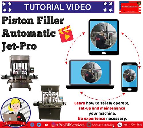 Tutorial Video (Piston Filler Automatic Jet-Pro)