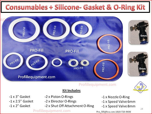 SILICONE CONSUMABLES KIT (Gaskets & O-Rings)