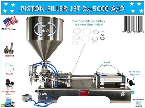 JET 2x5000 (AIR ONLY/ PNEUMATIC)  Piston Filler/ Filling Mac