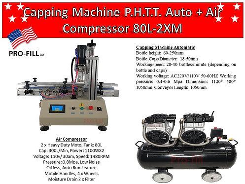 Capping Machine P.H.T.T Auto #35156 & Air Compressor