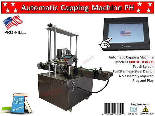 Automatic Capping Machine PH #080101034395 & Air Compressor #080101034241