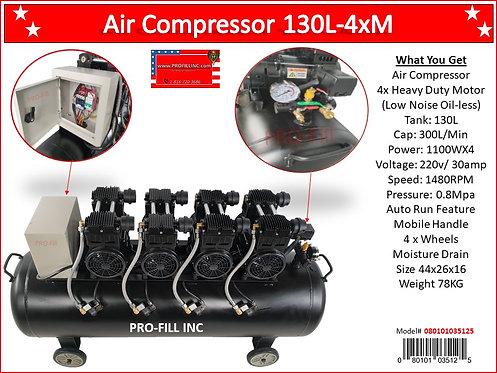 Air Compressors / Low Noise 130L-4xM #35125