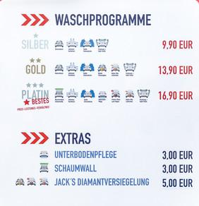 Jack's Wash & Care bietet unterschiedliche Waschprogramme und diverse Extras