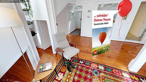Jubiläums-Gewinnspiel: Gewinne versteckt in virtueller Hausbesichtigung
