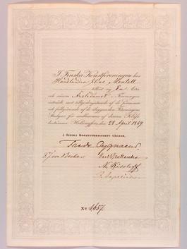 Jäsenkirja vuodelta 1869
