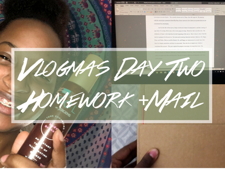 Vlogmas 2019 -Day 2 | School Work , Mail Unboxing, etc.