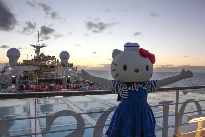 Hello Kitty no Fashion Cruise 2015