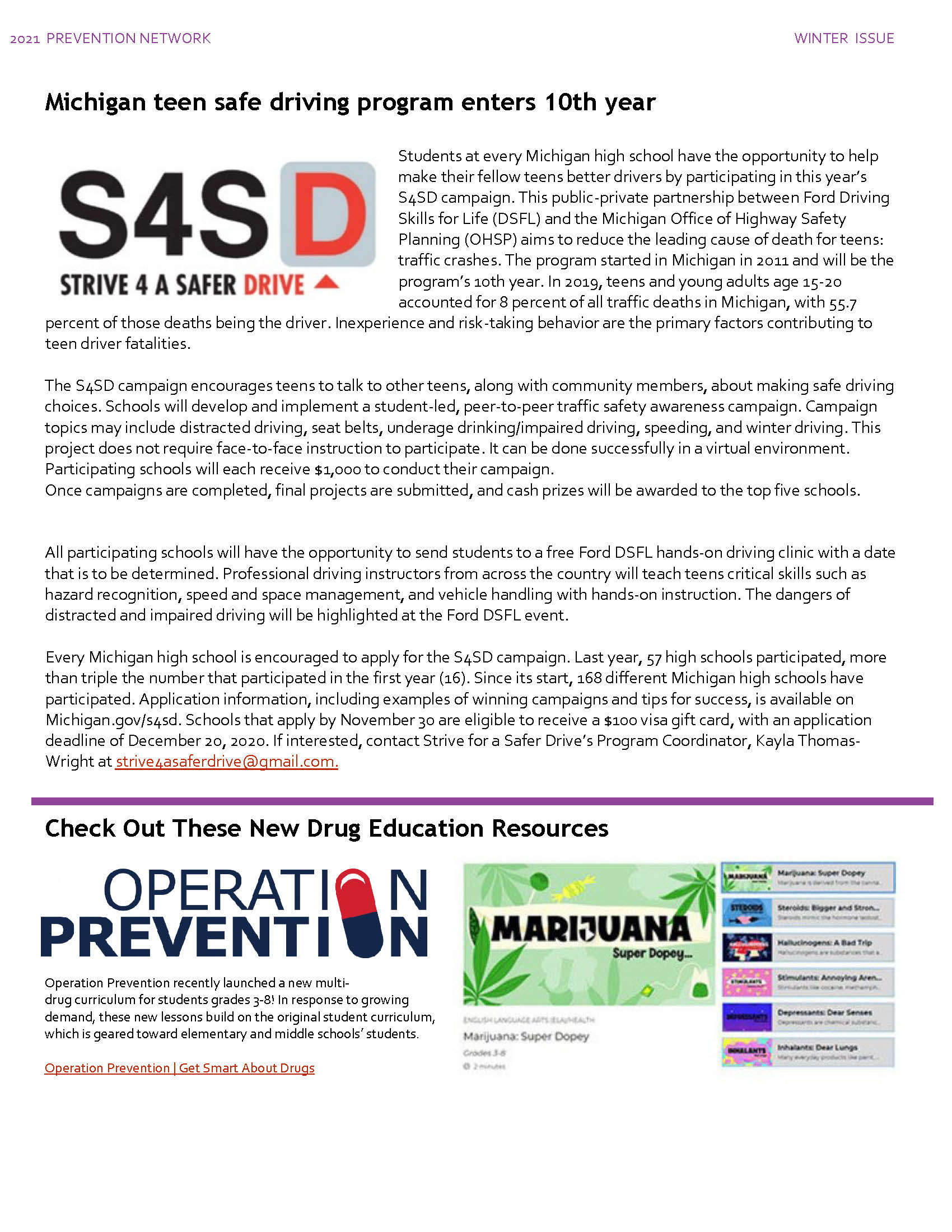 S4SD & Operation Prevention