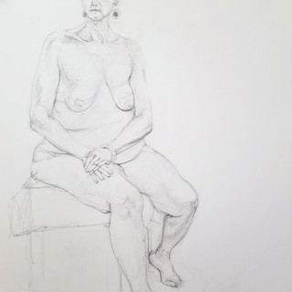 Caitlin life drawing