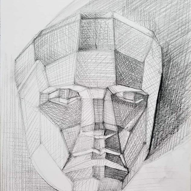 geometric bust