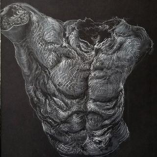 inverse plaster torso