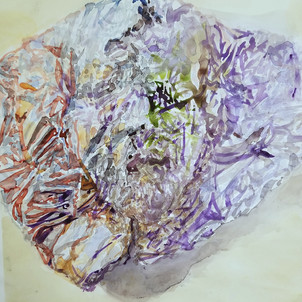 untitled 4 (tinfoil portrait), watercolor