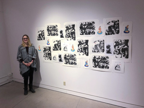 """Leigha Stiles with print series """"Yours"""""""