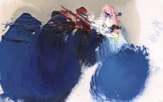 Painters Mind XVII, 2019, oil on paper, 23x17 cm.