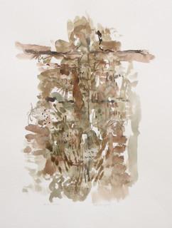 Kruisiging, 2010, aquarel, 36x48 cm.