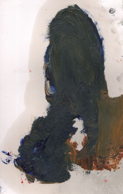 Painters Mind XVI, 2019, oil on paper, 23x17 cm.