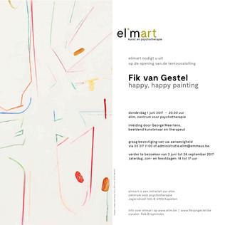 Happy, happy painting, openingswoord bij de tentoonstelling van Fik van Gestel bij Elimart, juni 2017