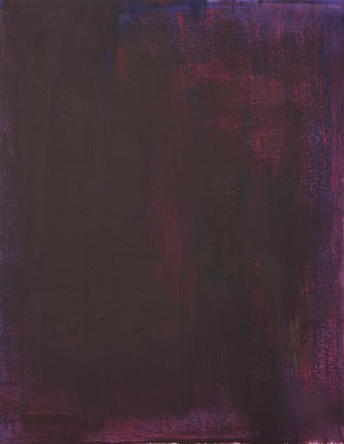 Study IV (MR), 2018, oil on paper, 42x35 cm.