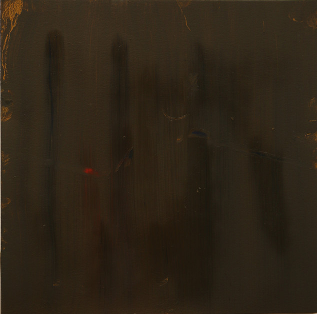 Study XIV (MR), 2018,  oil on paper, oil on paper, 35x35 cm.