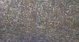 'De bossen buiten Clairvaux, 2002-2008, olieverf op doek, 225x425 cm.