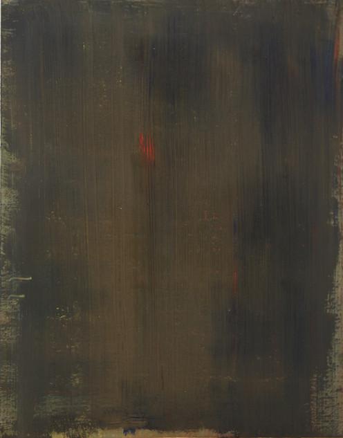 Study XIII (MR), 2018, oil on paper, 42x35 cm.