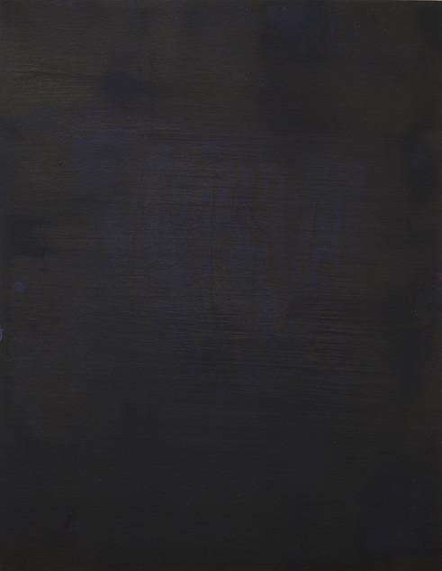 Study III (MR), 2018, oil on paper, 42x35 cm.