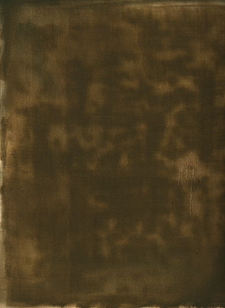 Residu, 2017, oil on paper, 65x50 cm.