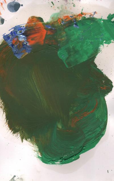 Painters Mind IX, 2019, oil on paper, 23x17 cm.