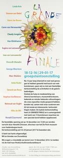 La Grande Finale, Studio van Dusseldorp, Tilburg, december 2016, met dank voor alle jaren samenwerking