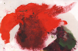 Painters Mind V, 2019, oil on paper, 23x17 cm.