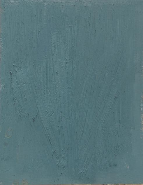Study XI (MR), 2018, oil on paper, 42x35 cm.