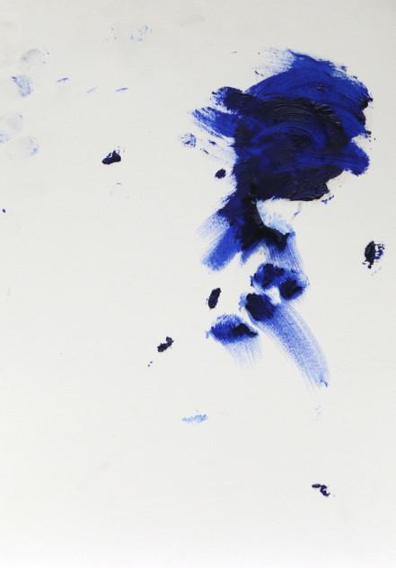 Spirit, 2016,  oil on paper, 30x20 cm.
