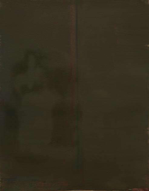 Study II (MR), 2018, oil on paper, 42x35 cm.