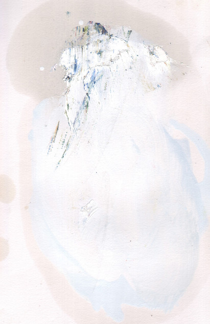 Painters Mind XX, 2019, oil on paper, 23x17 cm.