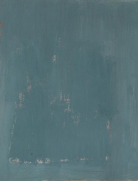 Study I (MR), 2018, oil on paper, 42x35 cm.