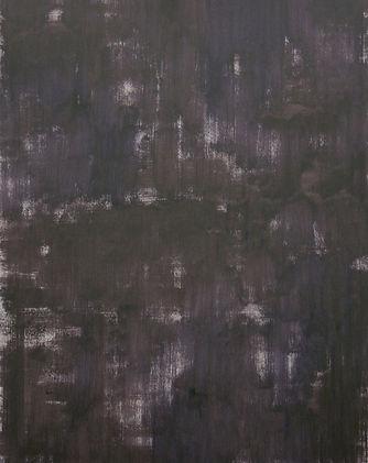 De donkere nacht II, olieverf op papier,