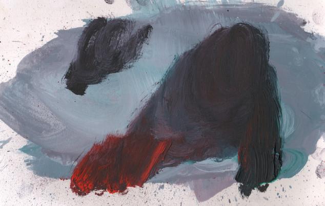 Painters Mind XIV, 2019, oil on paper, 23x17 cm.